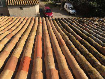 Décapage de toiture maison à Lançon de Provence