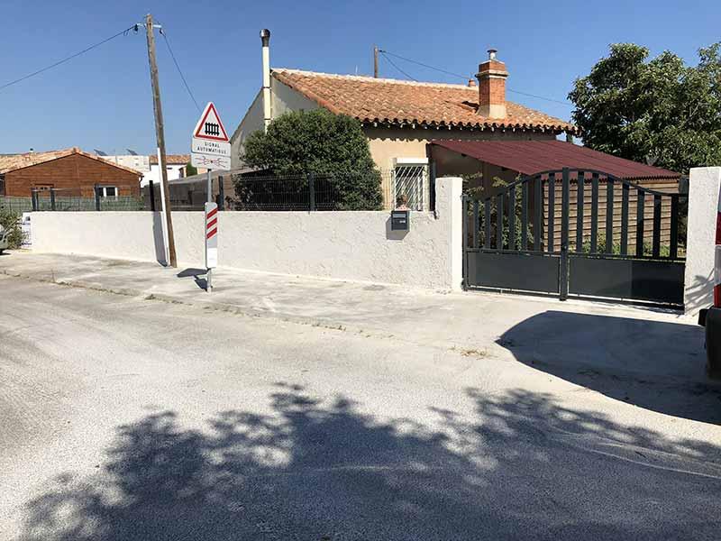 Ravalement enduit clôture à Istres