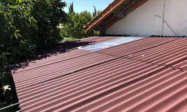 Rénovation d'un toit en plaque bitumé à Istres
